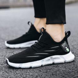 JSS57-black Sepatu Sneakers Olah Raga Pria Modis Terbaru