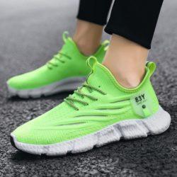 JSS57-green Sepatu Sneakers Olah Raga Pria Modis Terbaru