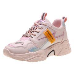 JSS6061-pink Sepatu Sneakers Wanita Cantik Terbaru Import