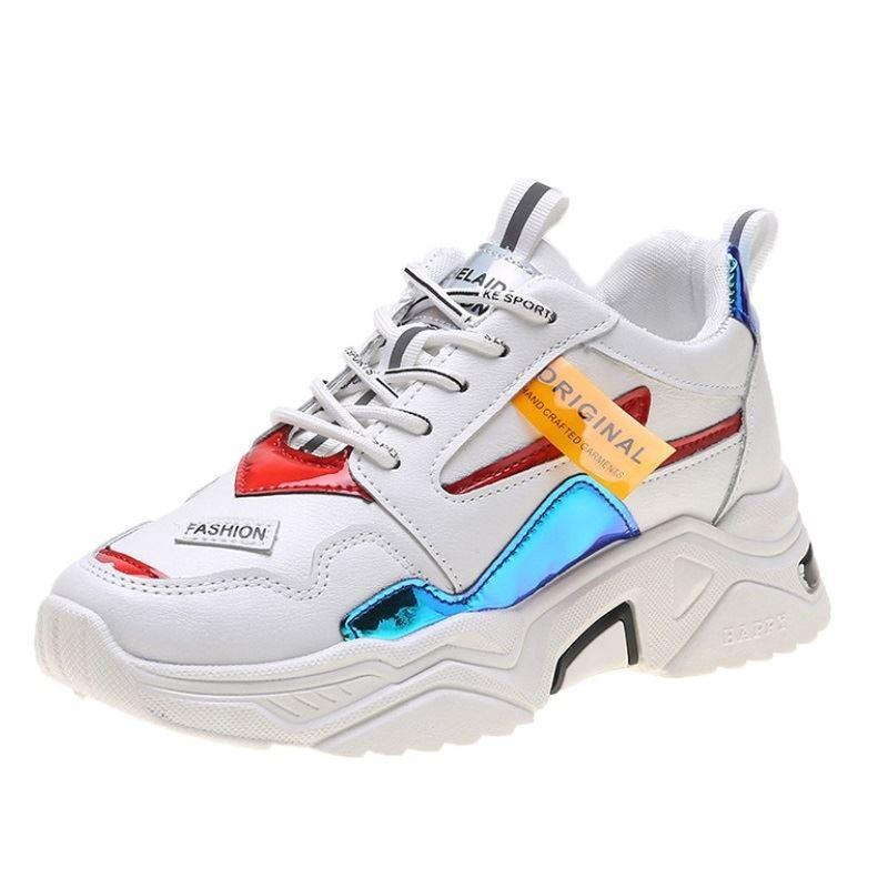 JSS6061-white Sepatu Sneakers Wanita Cantik Terbaru Import