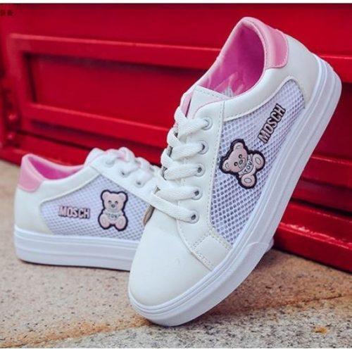 JSS608-pink Sepatu Olah Raga Wanita Cantik Kekinian