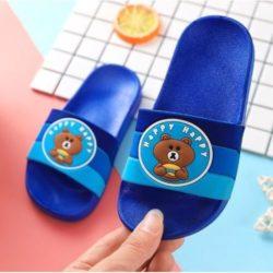 JSS6156-bearblue Sandal Flip Flop Anak Terbaru Import