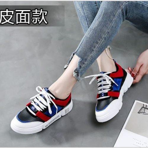 JSS662-black Sepatu Sneakers Wanita Import (Noda)
