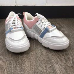 JSS662-white Sepatu Sneakers Wanita Import (Noda)