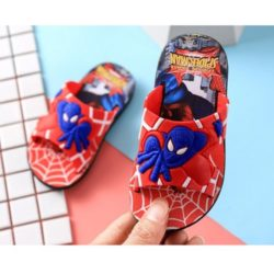 JSS671-red Sandal Flip Flop Anak Motif Spiderman