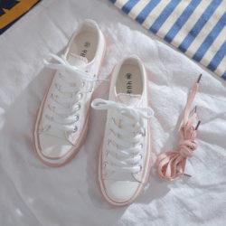 JSS71042-pink Sepatu Sneakers Flat Fashion Import Wanita