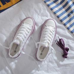 JSS71042-purple Sepatu Sneakers Flat Fashion Import Wanita