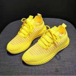 JSS71049-yellow Sepatu Sneakers Wanita Cantik Import