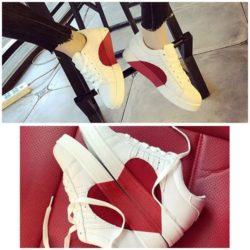 JSS763-white Sepatu Sneakers Love Wanita Cantik