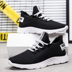 JSS771-black Sepatu Sneakers Pria Modis Terbaru Import