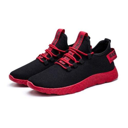 JSS771-red Sepatu Sneakers Pria Modis Terbaru Import
