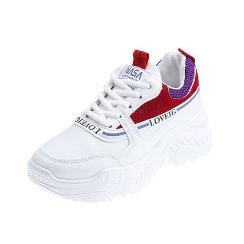 JSS8062-red Sepatu Sneakers Wanita Cantik Import Terbaru