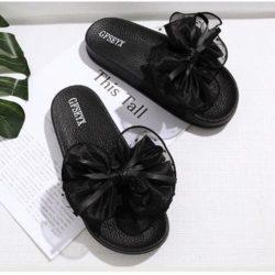 JSS808-black Sandal Import Nyaman Wanita Cantik