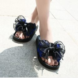 JSS808-blue Sandal Import Nyaman Wanita Cantik
