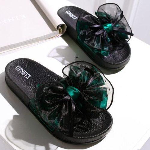 JSS808-green Sandal Import Nyaman Wanita Cantik