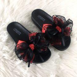 JSS808-red Sandal Import Nyaman Wanita Cantik