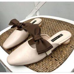 JSS8090-beige Sandal Slip On Wanita Cantik Import