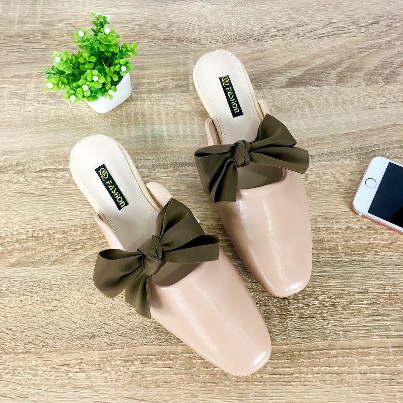 JSS8090-pink Sandal Slip On Wanita Cantik Import