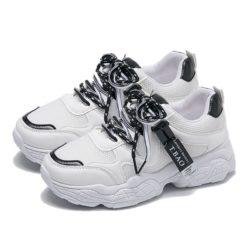 JSS8201-black Sepatu Sneakers Import Wanita Cantik Terbaru
