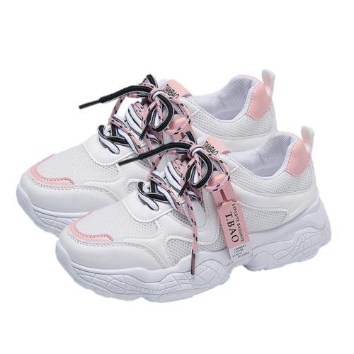 JSS8201-pink Sepatu Sneakers Import Wanita Cantik Terbaru