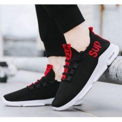 JSS830-red Sepatu Sneakers Pria Keren Kekinian Import