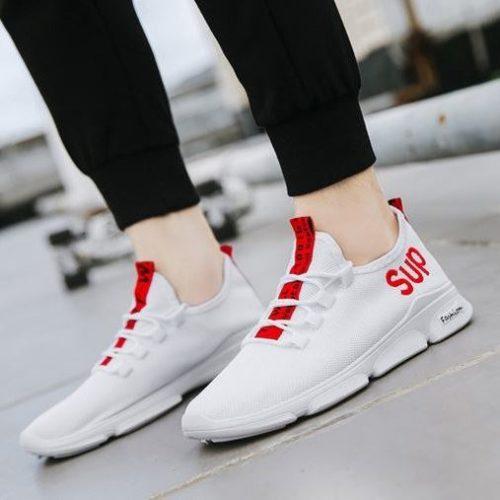 JSS830-white Sepatu Sneakers Pria Keren Kekinian Import