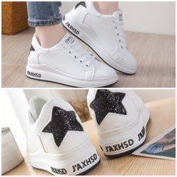 JSS8812-black Sepatu Sneakers Star Wanita Cantik Import