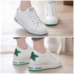 JSS8812-green Sepatu Sneakers Star Wanita Cantik Import