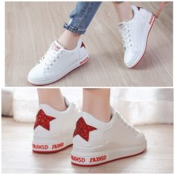 JSS8812-red Sepatu Sneakers Star Wanita Cantik Import