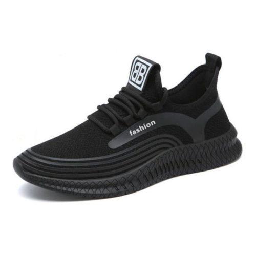JSS910-black Sepatu Sneakers Fashion Pria Modis Terbaru