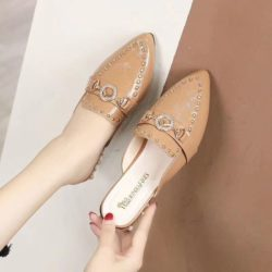 JSS923-brown Sandal Pesta Import Wanita Cantik Elegan 3CM