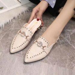 JSS923-white Sandal Pesta Import Wanita Cantik Elegan 3CM