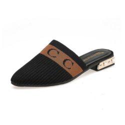 JSS929-black Sandal Fashion Import Wanita Cantik Terbaru 3CM