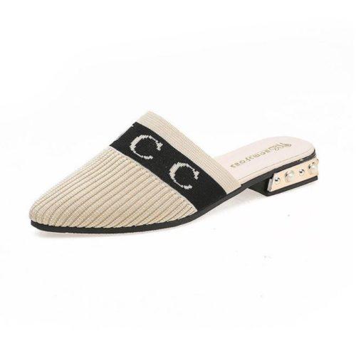 JSS929-white Sandal Fashion Import Wanita Cantik Terbaru 3CM