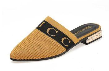 JSS929-yellow Sandal Fashion Import Wanita Cantik Terbaru 3CM