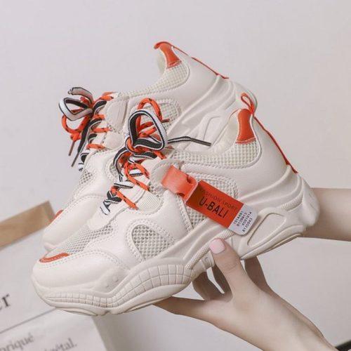 JSS9811-orange Sepatu Sneakers Wanita Terbaru Import