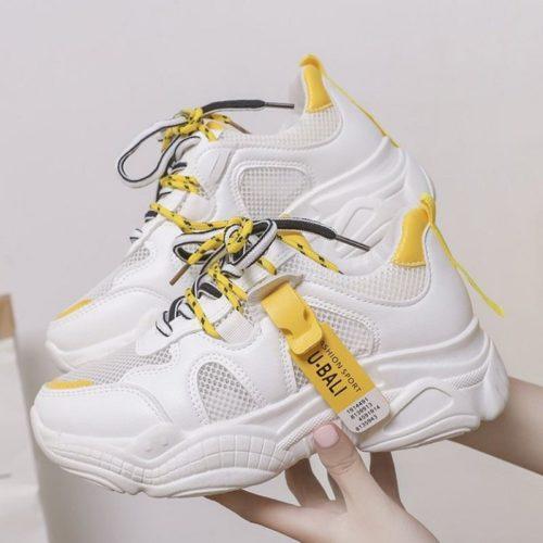 JSS9811-yellow Sepatu Sneakers Wanita Terbaru Import