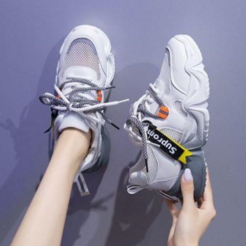JSS9905-white Sepatu Sport Fashion Import Wanita Cantik
