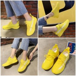 JSS991-yellow Sepatu Sneakers Import Wanita Cantik