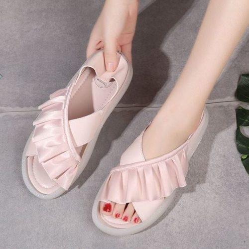 JSS999-pink Sandal Wanita Import Cantik Terbaru