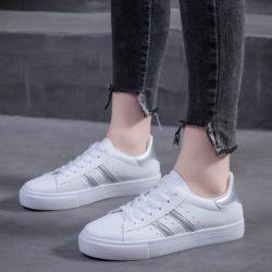 JSSA55-silver Sepatu Sport Fashion Wanita Cantik Import