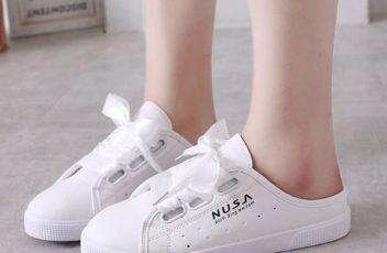 JSSA906-white Sepatu Sneakers Slip On Wanita Cantik Import