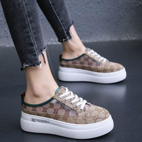 JSSA999-green Sepatu Sport Cantik Wanita Terbaru
