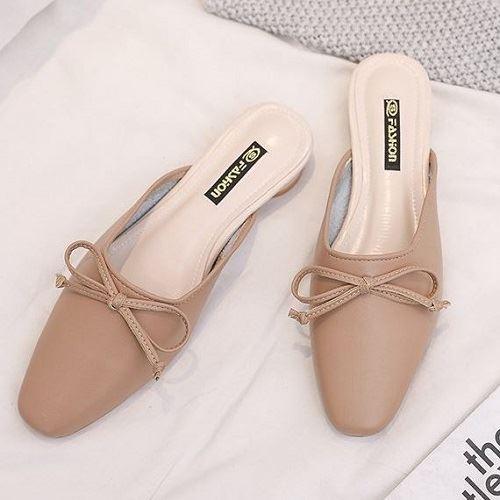 JSSB222-khaki Sandal Slip On Fashion Wanita Cantik
