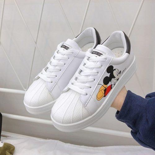 JSSB9-black Sepatu Sneakers Mickey Wanita Import Cantik