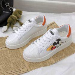 JSSB9-orange Sepatu Sneakers Mickey Wanita Import Cantik