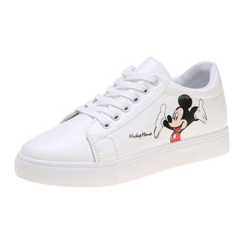 JSSC05-red Sepatu Sneakers Mickey Wanita Cantik Import