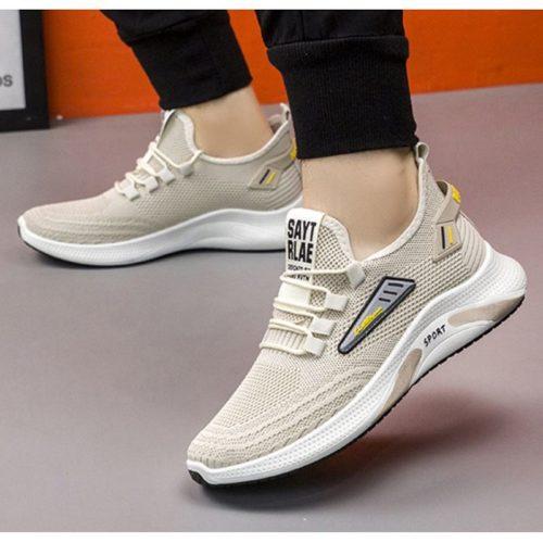 JSSC26-beige Sepatu Sneakers Sport Fashion Pria Modis