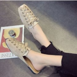 JSSC39-beige Slip On Shoes Wanita Cantik Import Terbaru