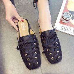 JSSC39-black Slip On Shoes Wanita Cantik Import Terbaru